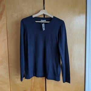 NWT J. Crew Mercantile Cotton-Wool Sweater (Navy)